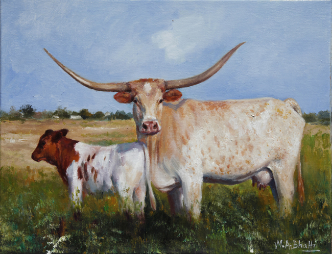 Long Horn | Oil on Canvas | 11 x 14